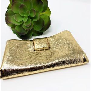 Handbags - 🔸Gold Metallic Cocktail Clutch/Wallet